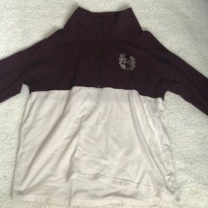 victoria secret pink half zip sweater